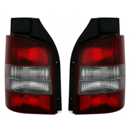 VW T5 puna-harmaat takavalot